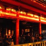 Dusk-at-Kiyomizu-Temple,-Kyoto