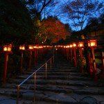 Lanterns-lighting-the-path-to-Kibune-Shrine-Kyoto