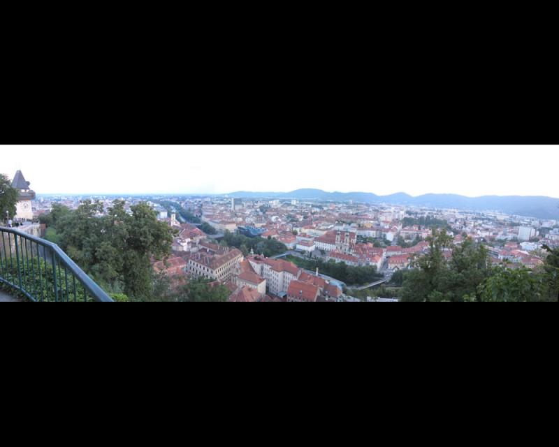 Panarama of Graz daytime