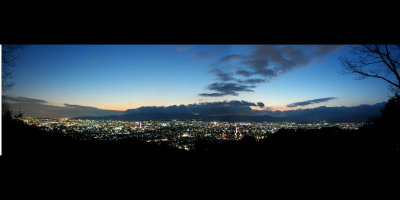 Panoramic View of Kyoto from Shogunzuka Mound