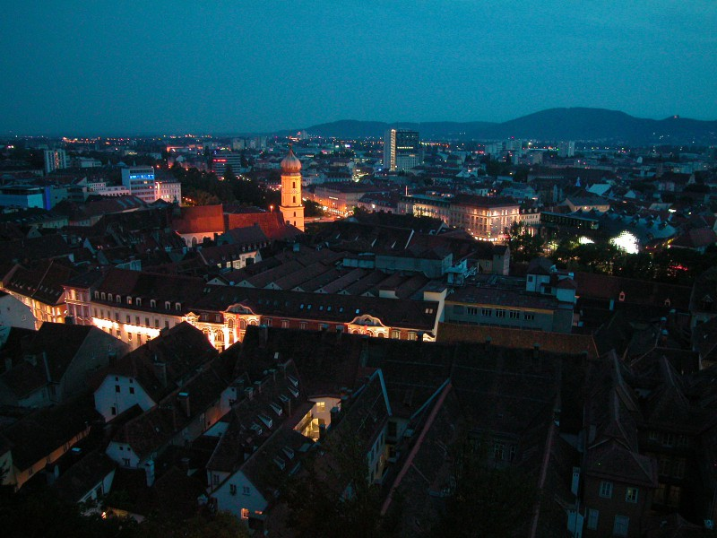 View of Graz from Schlomberg