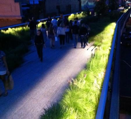 People enjoy greens