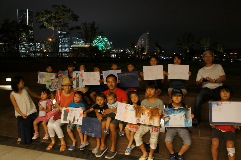 こどもワークショップ:夏休み企画「横浜の夜景を描いて、楽しもう!」