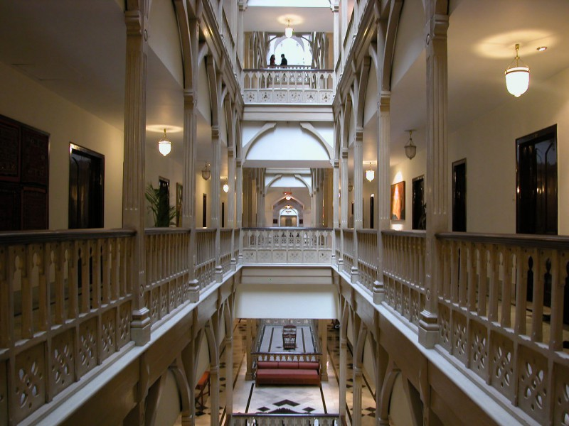 Atrium in Taj Mahal Hotel