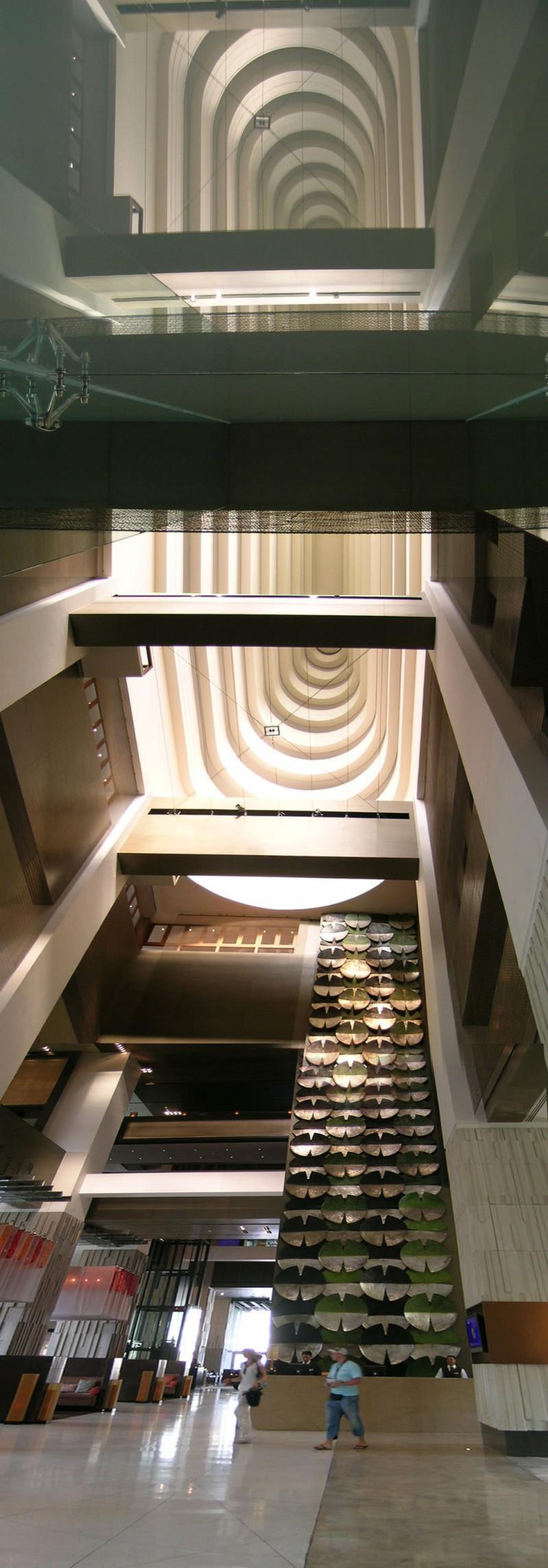Atrium in the lobby of Hilton Bangkok