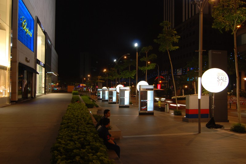 Bukit Bintang Area at Night