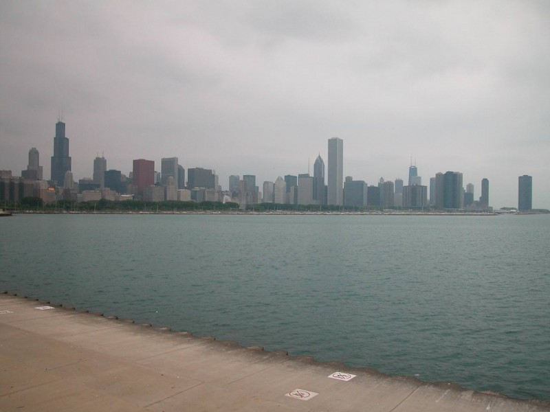 Chicago Skyline from Alder Planetarium