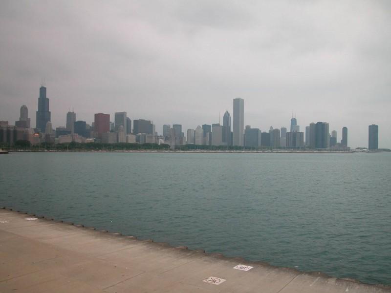 Chicago Skyline from Alder Planetarium