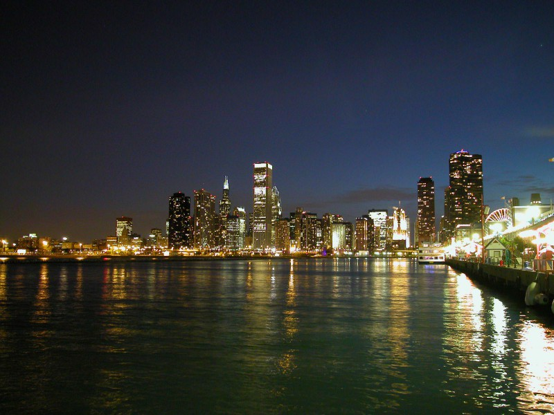 Chicago Skyline from Navy Pier