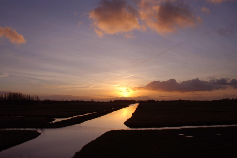 Dawn from the train window