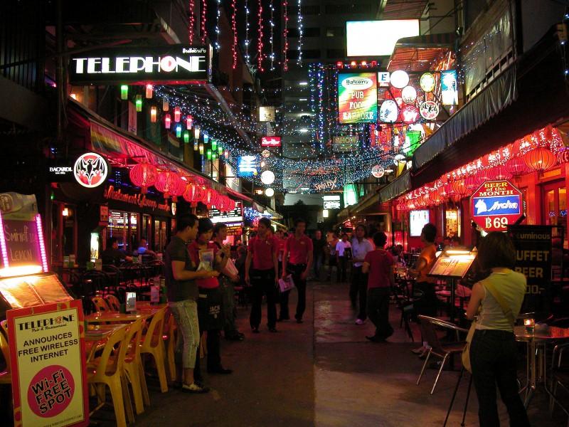 Gogo bars along Patpong Street