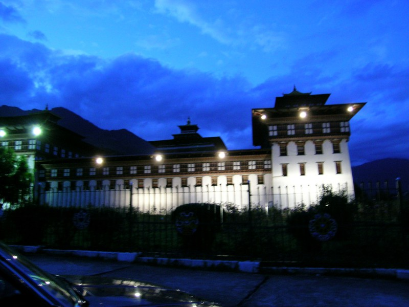 Illumination of Tashichhodzong