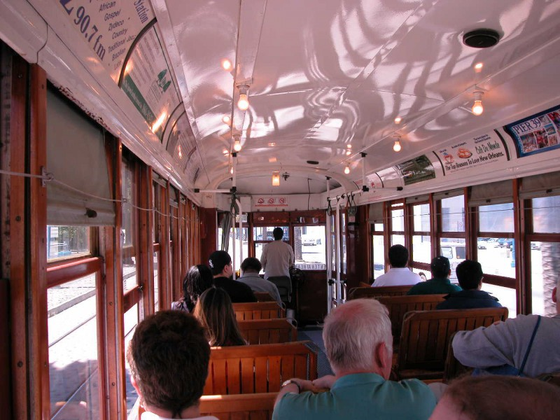 Inside a San Fransisco Trolley