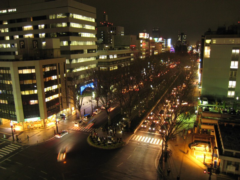 Jyozenji Blvd. in downtown Sendai