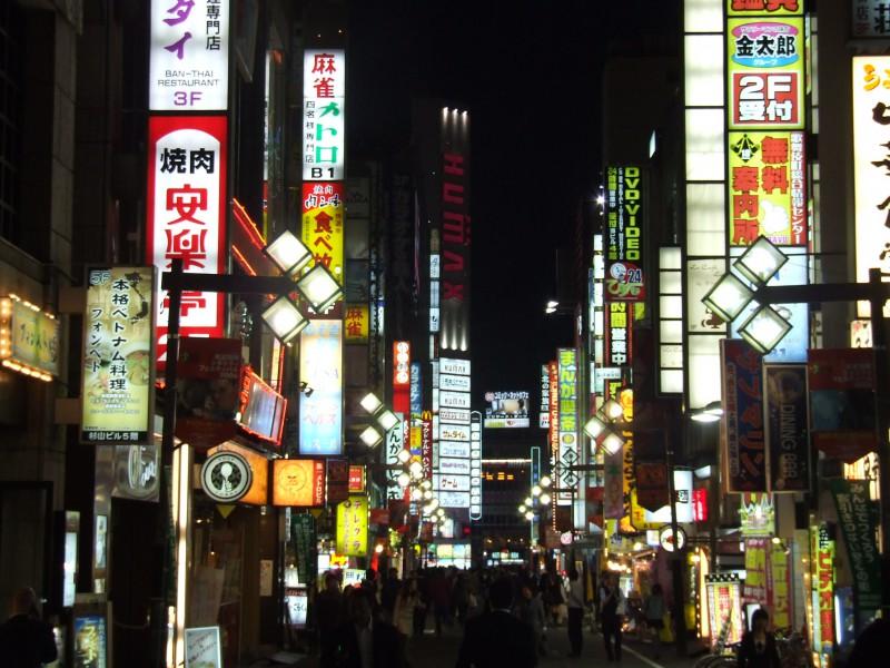 Kabuki-cho Entertainment Area in Shinjuku, Tokyo