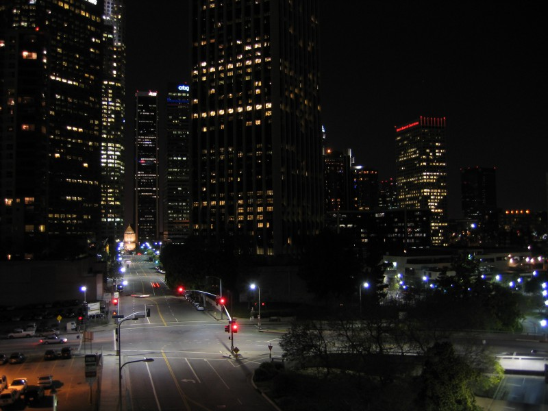 LA downtown Road Lighting