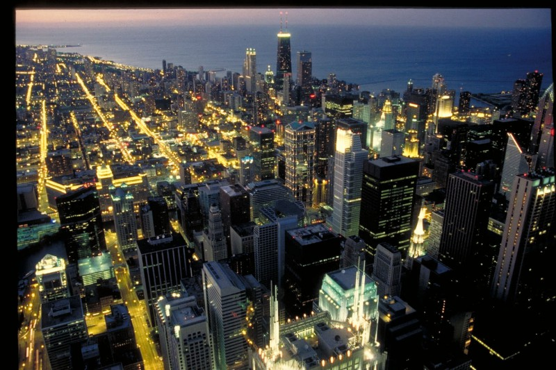 Looking over Chicago