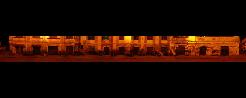 Panarama of Spanish Neighborhood