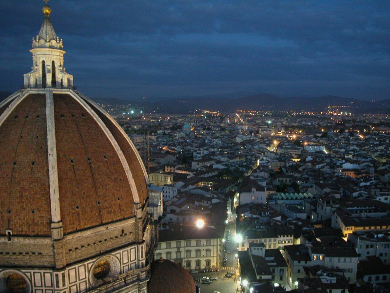 Panoramic view from Giotto`s Belltower