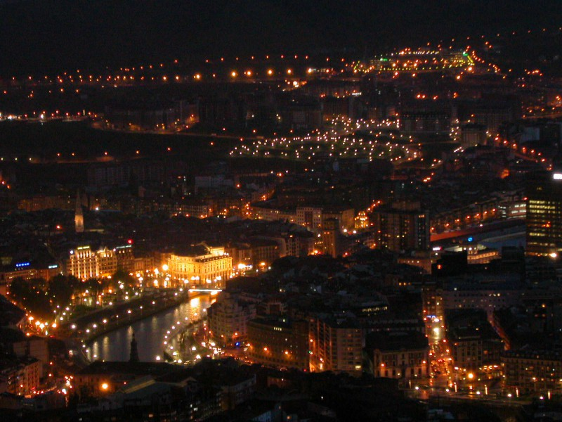Panoramic view of Bilbao
