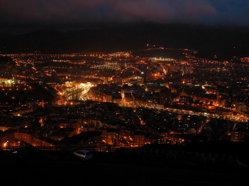 Panoramic view of Bilbao