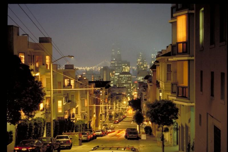 Residential Street of San Fransisco
