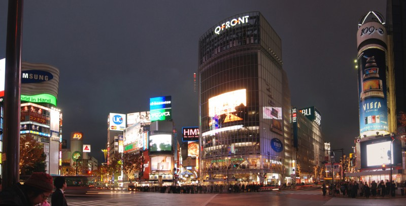 Scrable intersection in front of Shibuya Station
