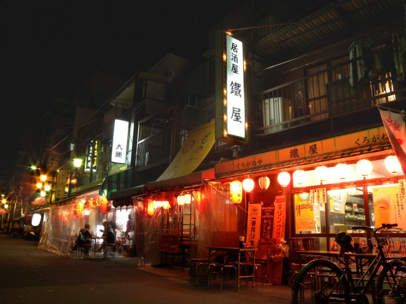 Small drinking establishments in Asakusa