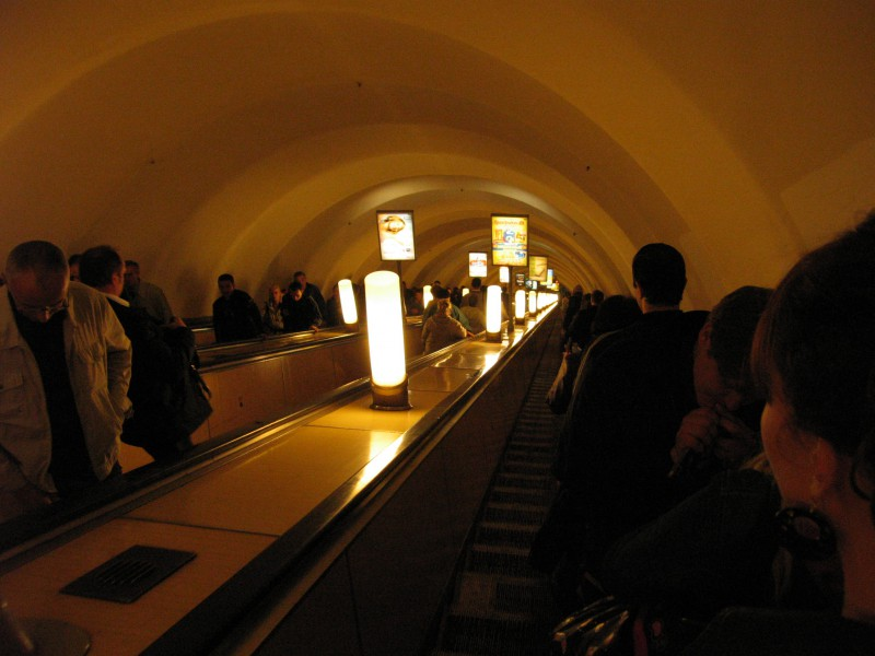 Subway Escalator in St. Petersburg