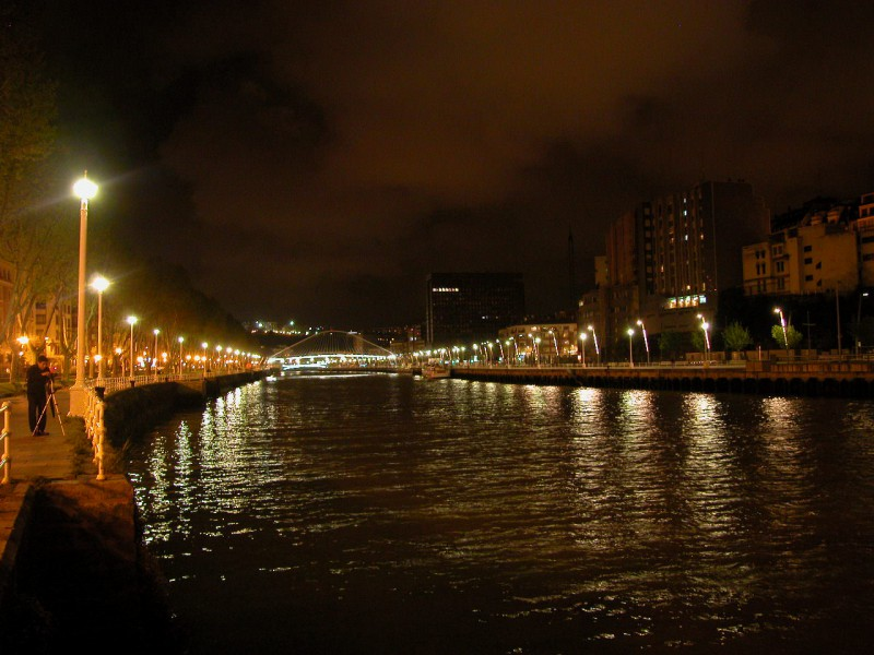 The Rio Nervion in Bilbao