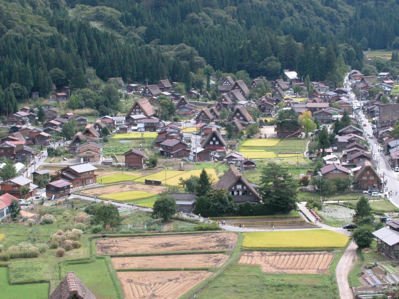 Traditional Japanese homes in mountains of Goka, Toyama