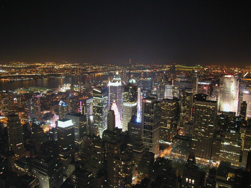 View from the top of Empire State Building