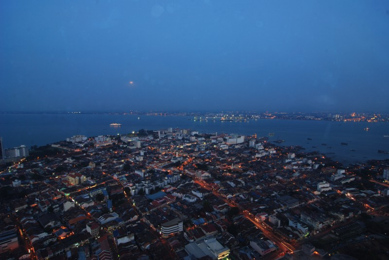 View of Penang from Komtar Tower