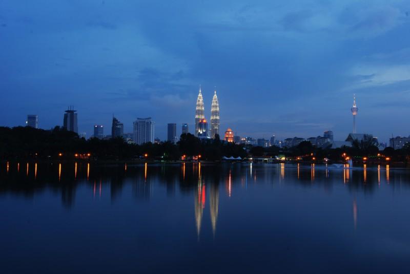 View of Petronas Twin Towers from Titiwangsa Park