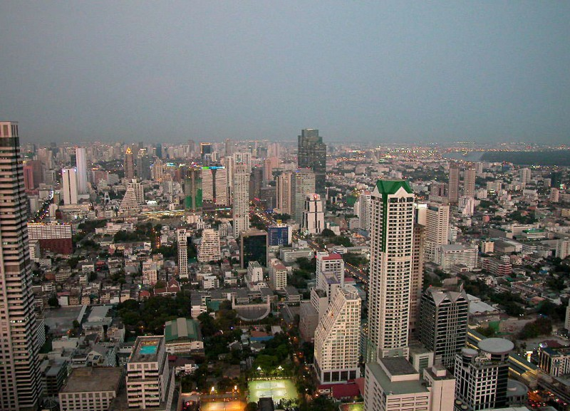 View of central Bangkok from the Sirocco Tower