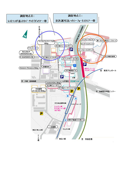 19.天王洲マップ首都高速を挟んで、左右で印象が大分ちがう