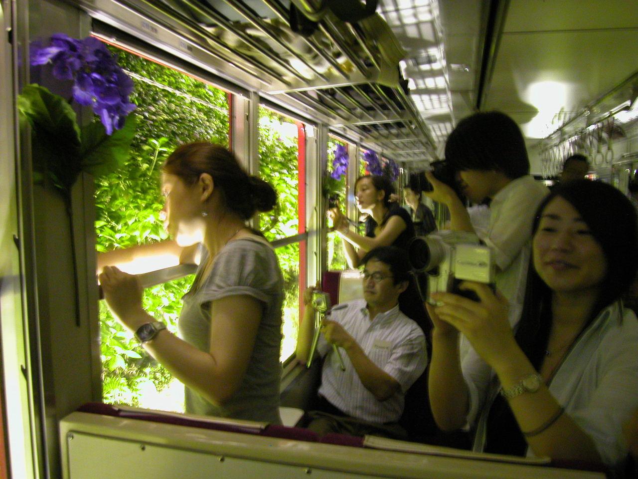 街歩き2006:箱根登山鉄道『夜のあじさい号』