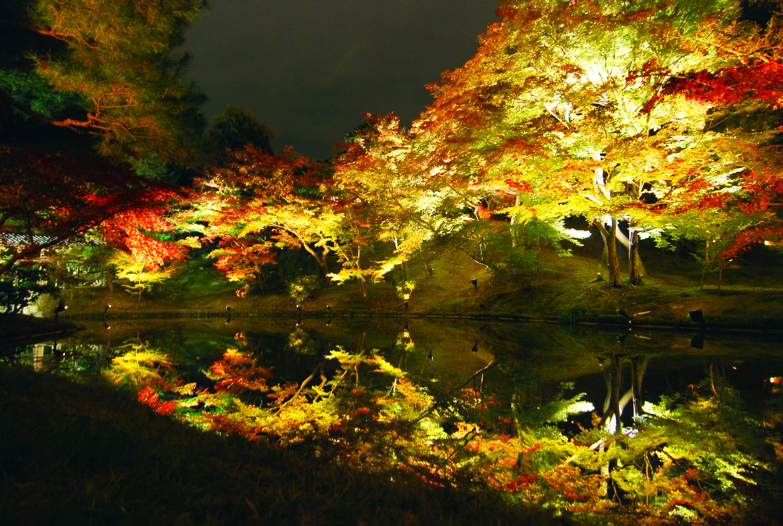 08_紅葉が映りこむ静止した水鏡