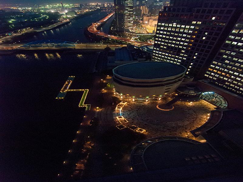 26.第一ホテル28階から見下げたシーフォートスクエア