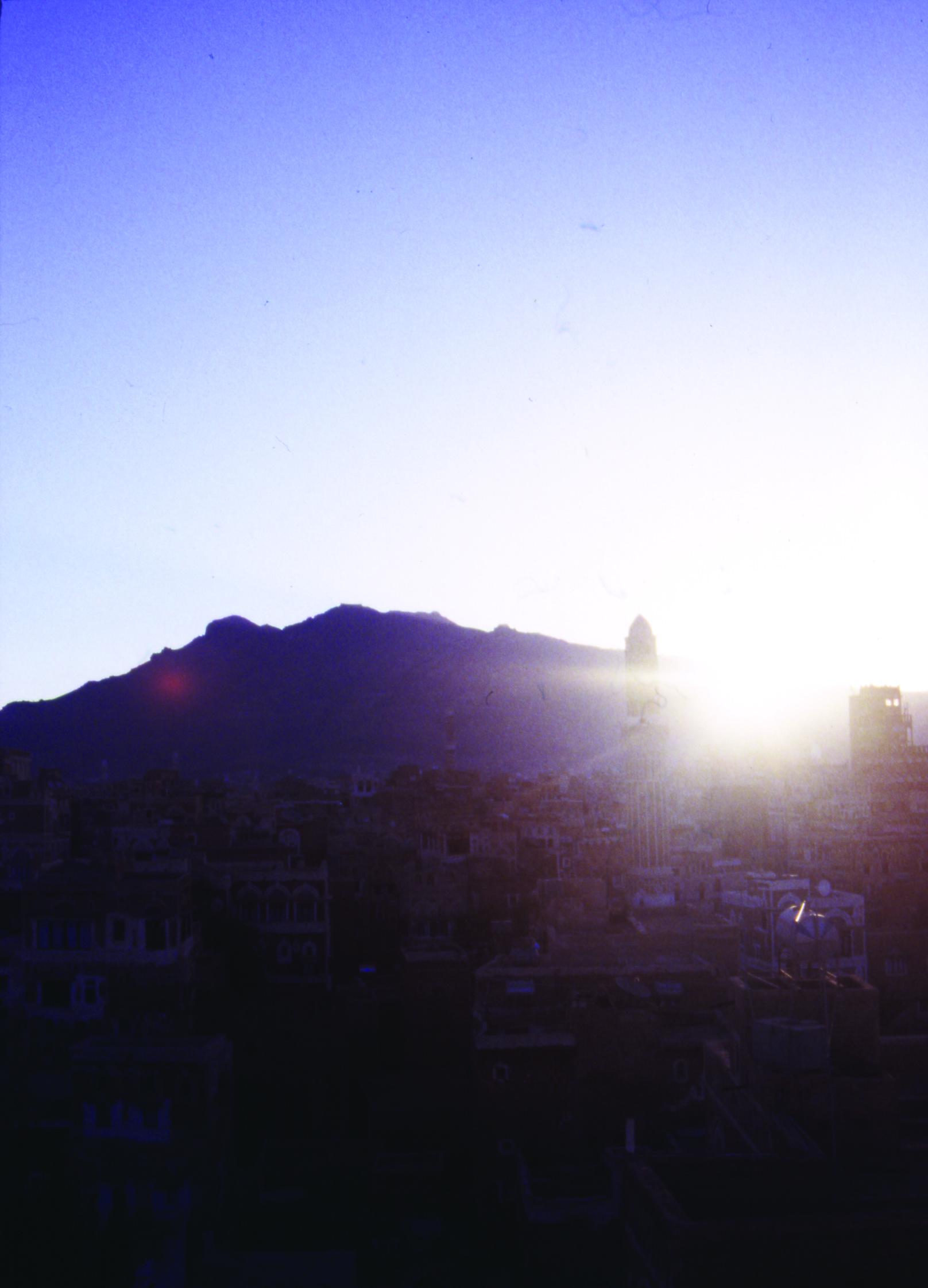 1.サナア・旧市街から見た日の出
