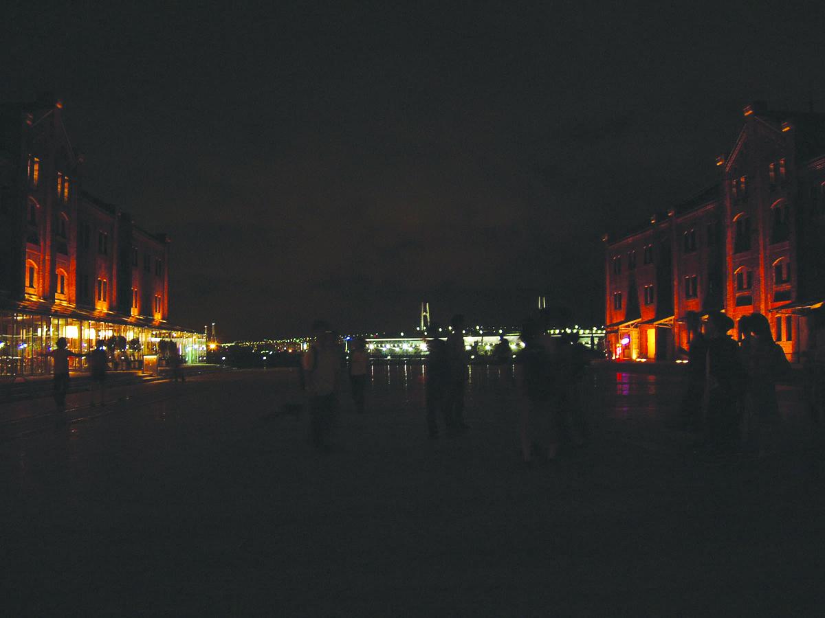 19.両側に見えるのが赤レンガ倉庫1・2号館.中央は大さん橋