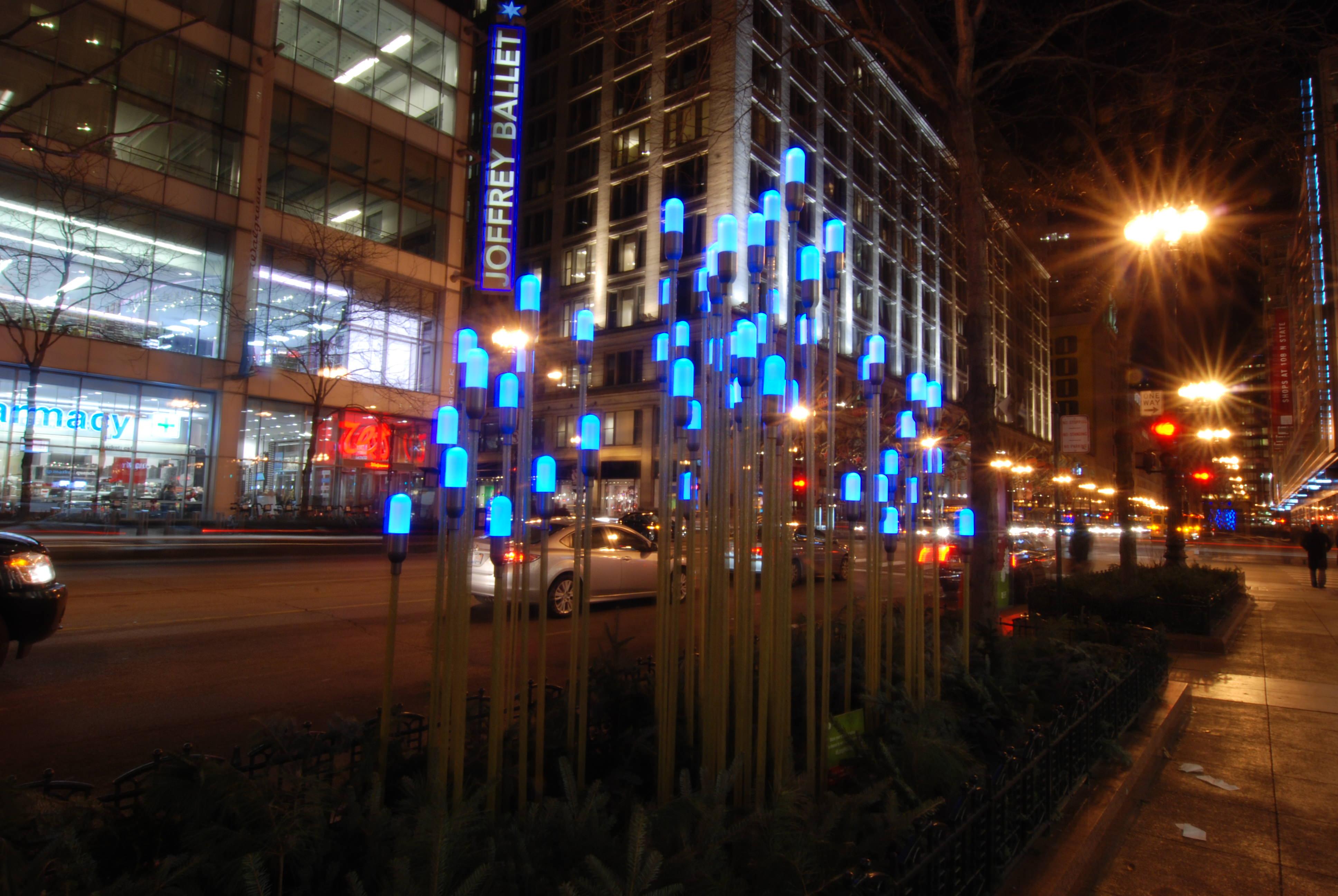 街中にあった光のアート
