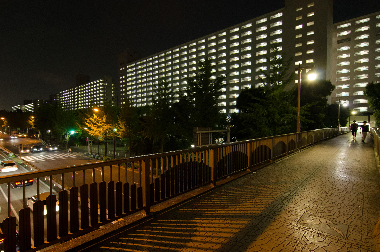 Takashimadaira - a housing at night(高島平 - 夜の団地)