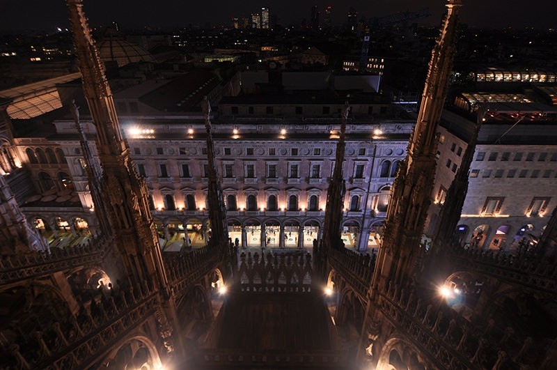 Downward view  from above Milano duomo Italy Milano
