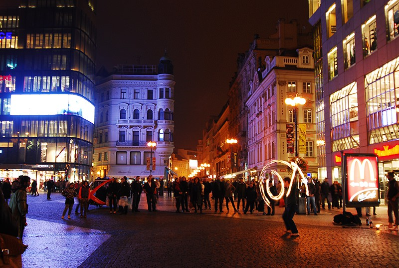 Wenceslas Square Czech Republic Prague