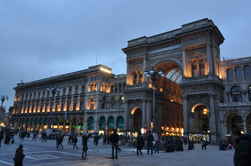 Facado of Milano Italy Milano