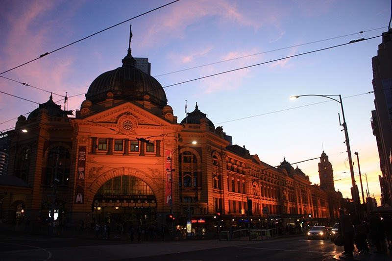 Landmark of melbourne city