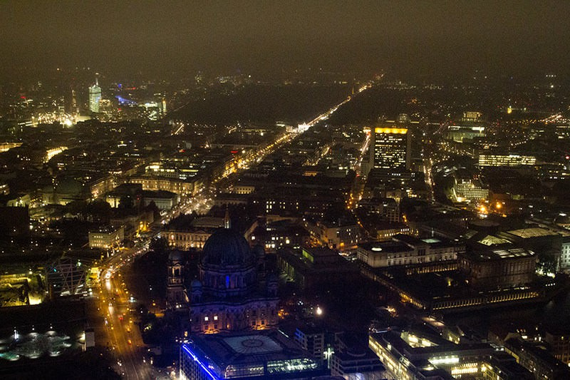 Downward view in Berlin