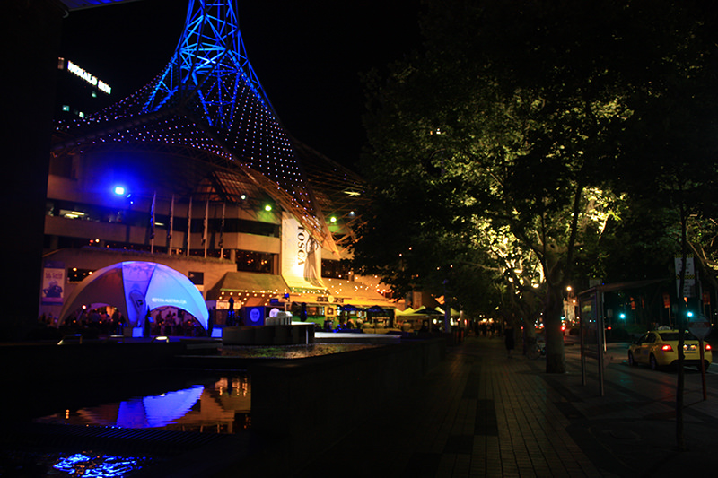 Street View Of Melbourne World Lighting Journey