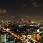 Panoramic view of Bangkok from Centara Grand